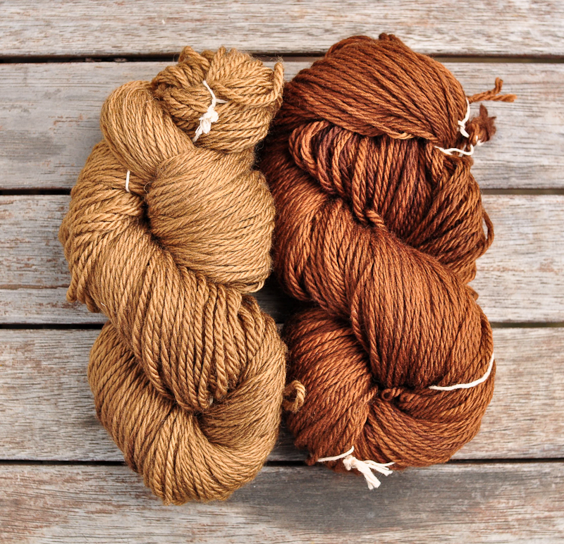 Walnut Hull dyed yarn, naturally dyed