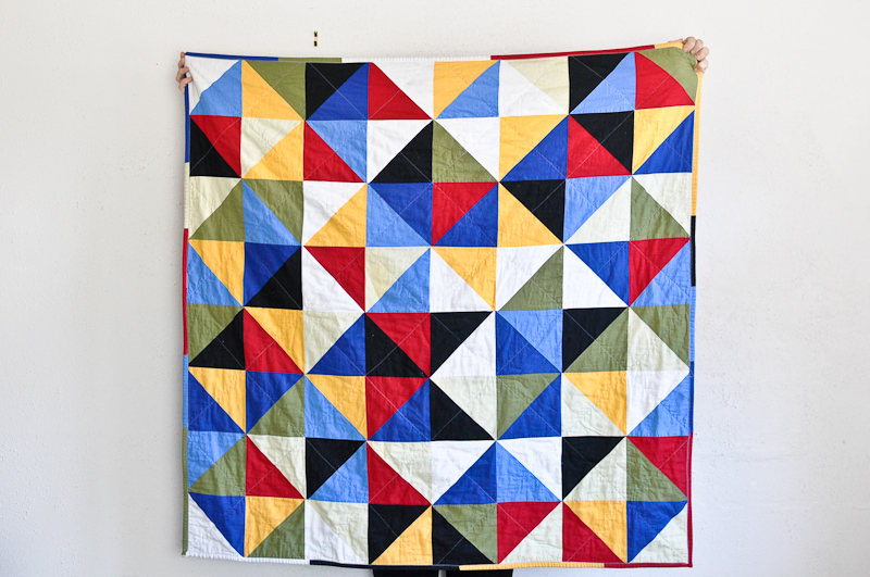 Fourth Quilt - Broken Dishes Bind | Fold