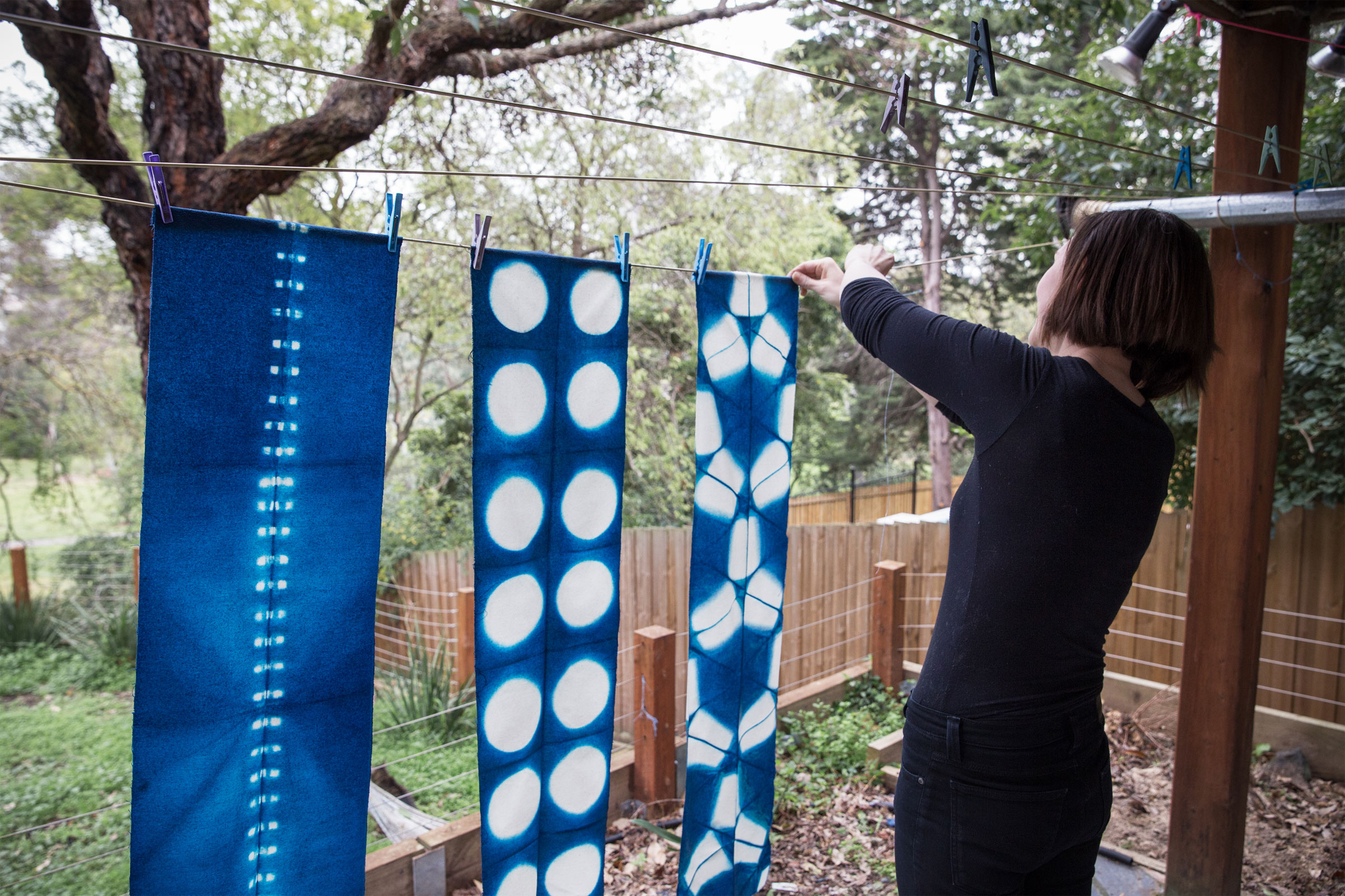 Victoria Pemberton and Shibori