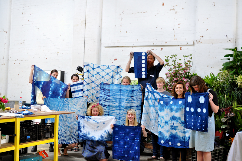 Bind | Fold Indigo Shibori Workshop Melbourne 2014