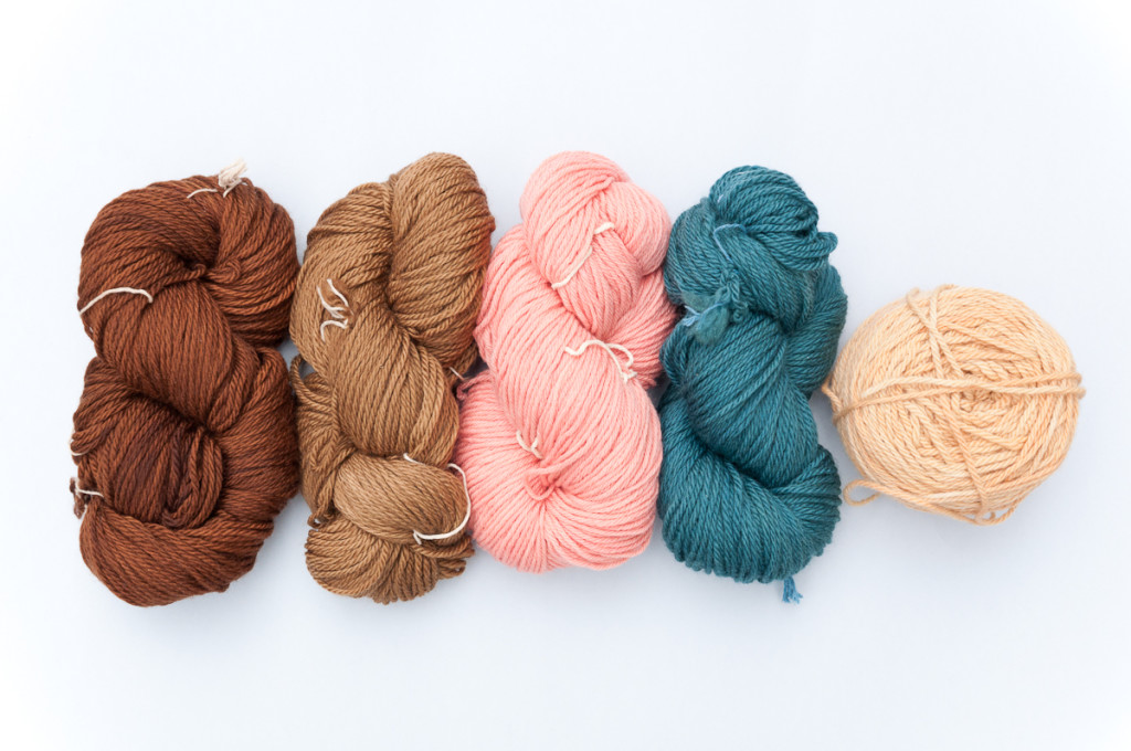 Naturally dyed yarns © Copyright Victoria Pemberton 2015