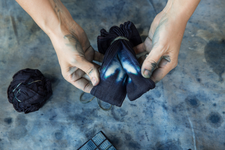 Bind | Fold Indigo Shibori Dyeing, Photo by Hilary Walker