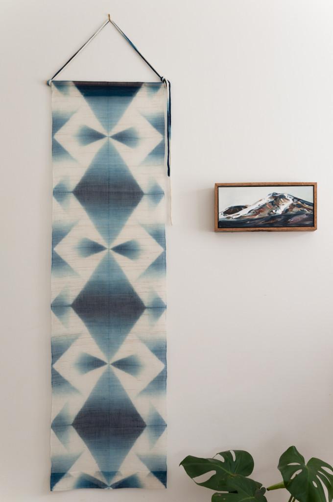Bind | Fold Japanese Textile Tour 2015 - Itajime Shibori wall hanging by Neoko Koyabu