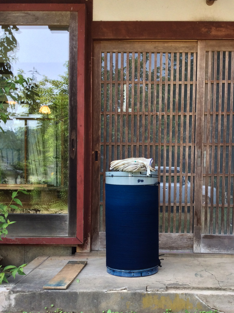 Bind | Fold Japanese Textile Tour 2015 - Arashi dyed work oxidising