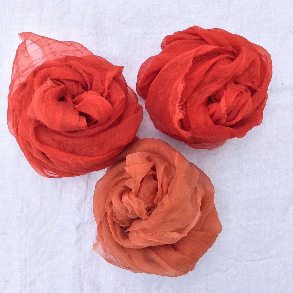 Madder Dyeing by Bind | Fold